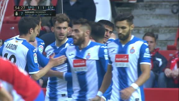 Gol sp gij n 1 1 espanyol g moreno 54 39 espn video for Schuhschrank no name 05 sp
