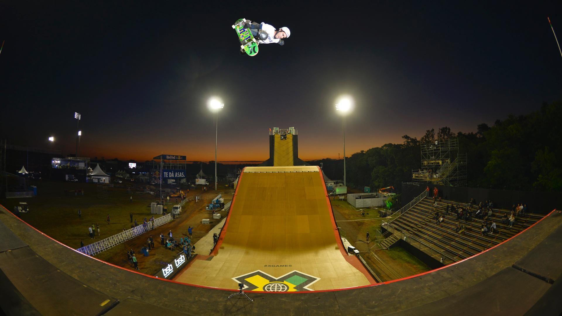 Treino Skate Big Air nos X Games Foz do Iguaçu - ESPN Video