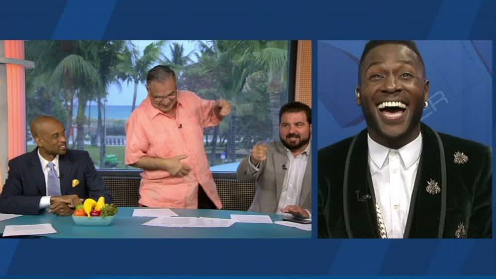 Papis dance moves are on point -- just ask Antonio Brown - ESPN Video