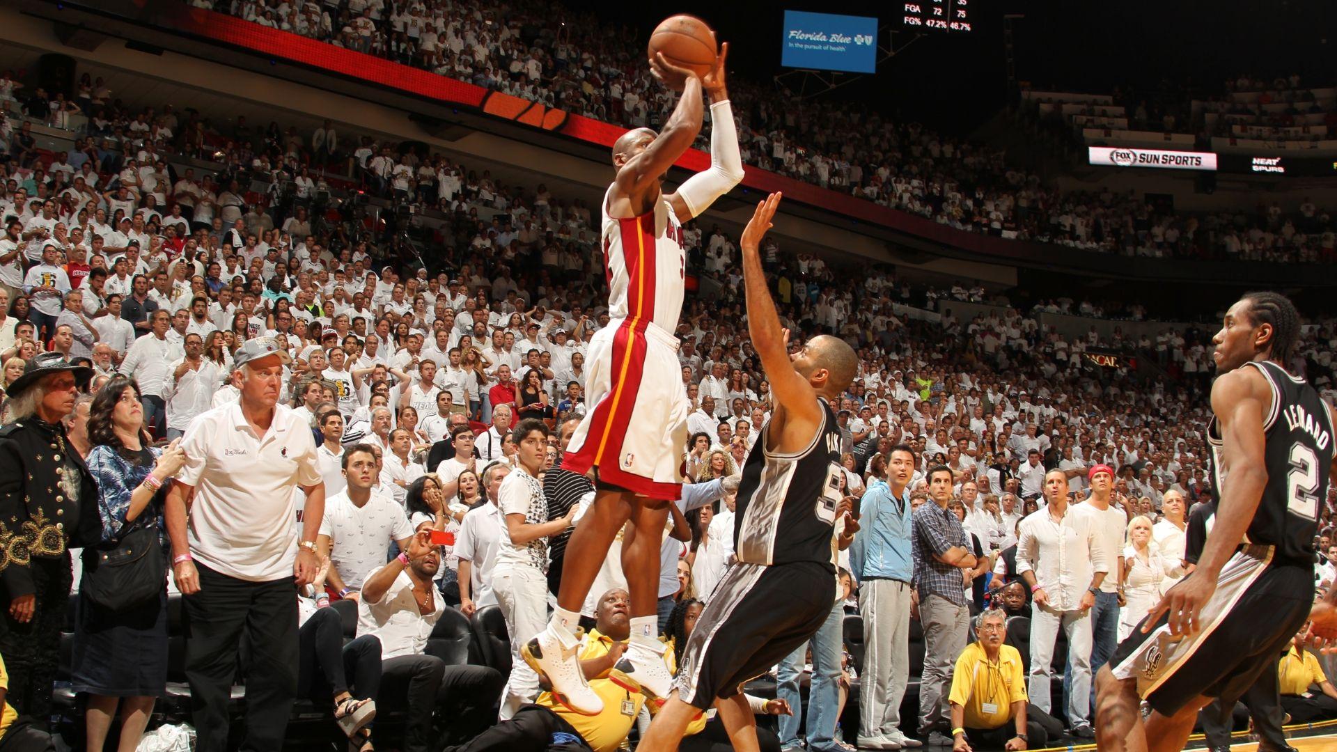Ray Allen's clutch three for Heat in Game 6 - ESPN Video