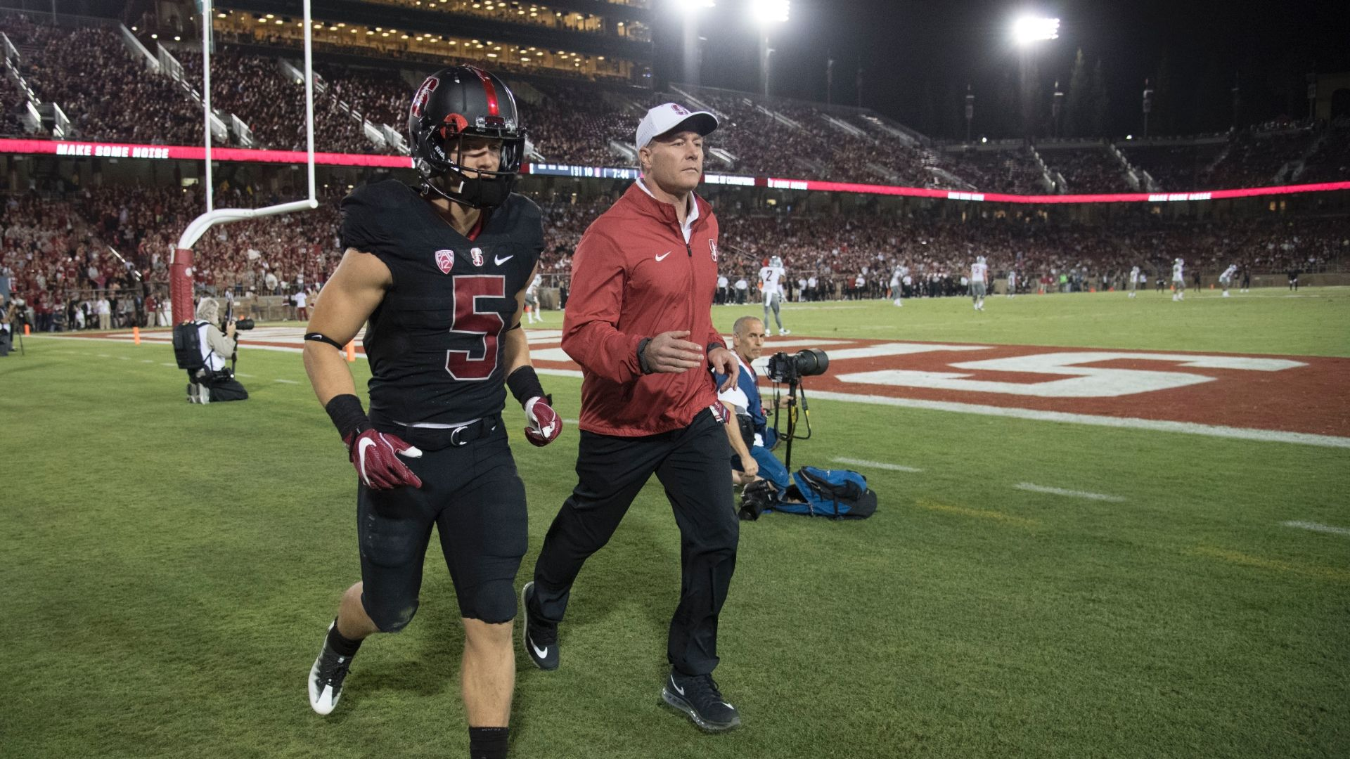 McCaffrey had just 35 yards rushing after getting hurt in the first half versus Wazzu....