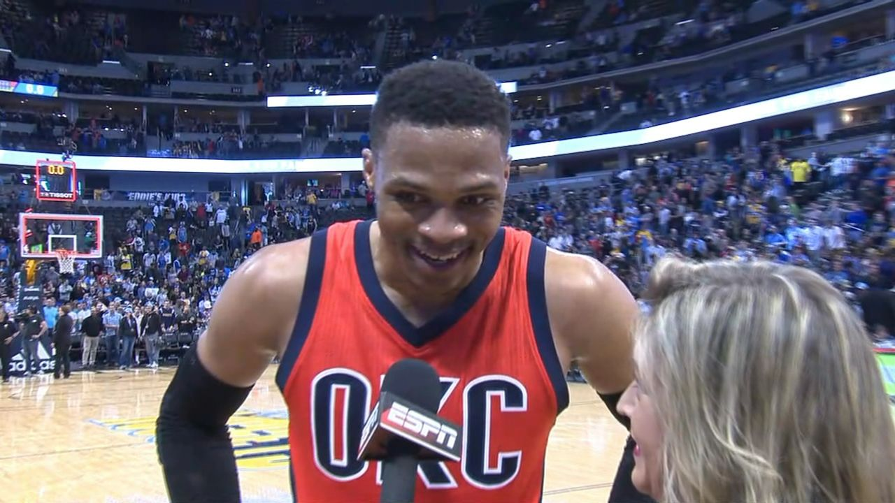 Westbrook thankful for support
