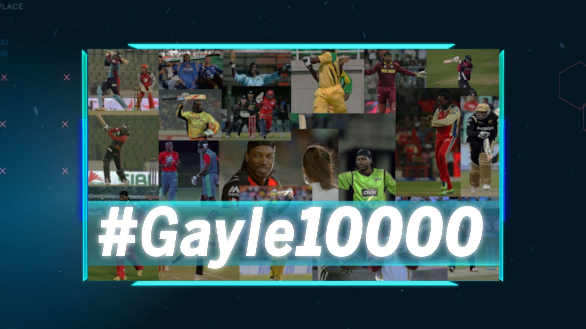 Gayle crosses 10,000-run mark in T20s - ESPN Video
