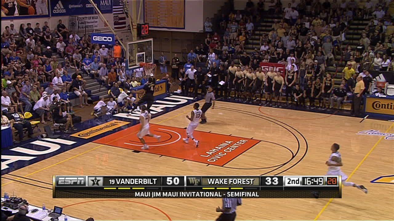 W. Baldwin IV made Dunk. - ESPN Video