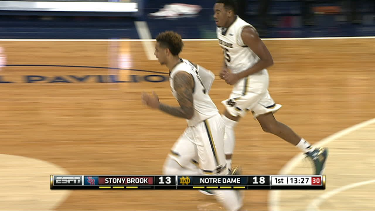 Auguste goes through the lane for massive two-hand slam ...
