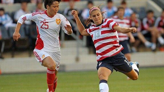 2012 London Olympics -- U.S. women's soccer team beats China in friendly