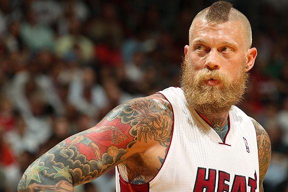 Miami Heat center Chris Andersen, a.k.a. Birdman, got an ...