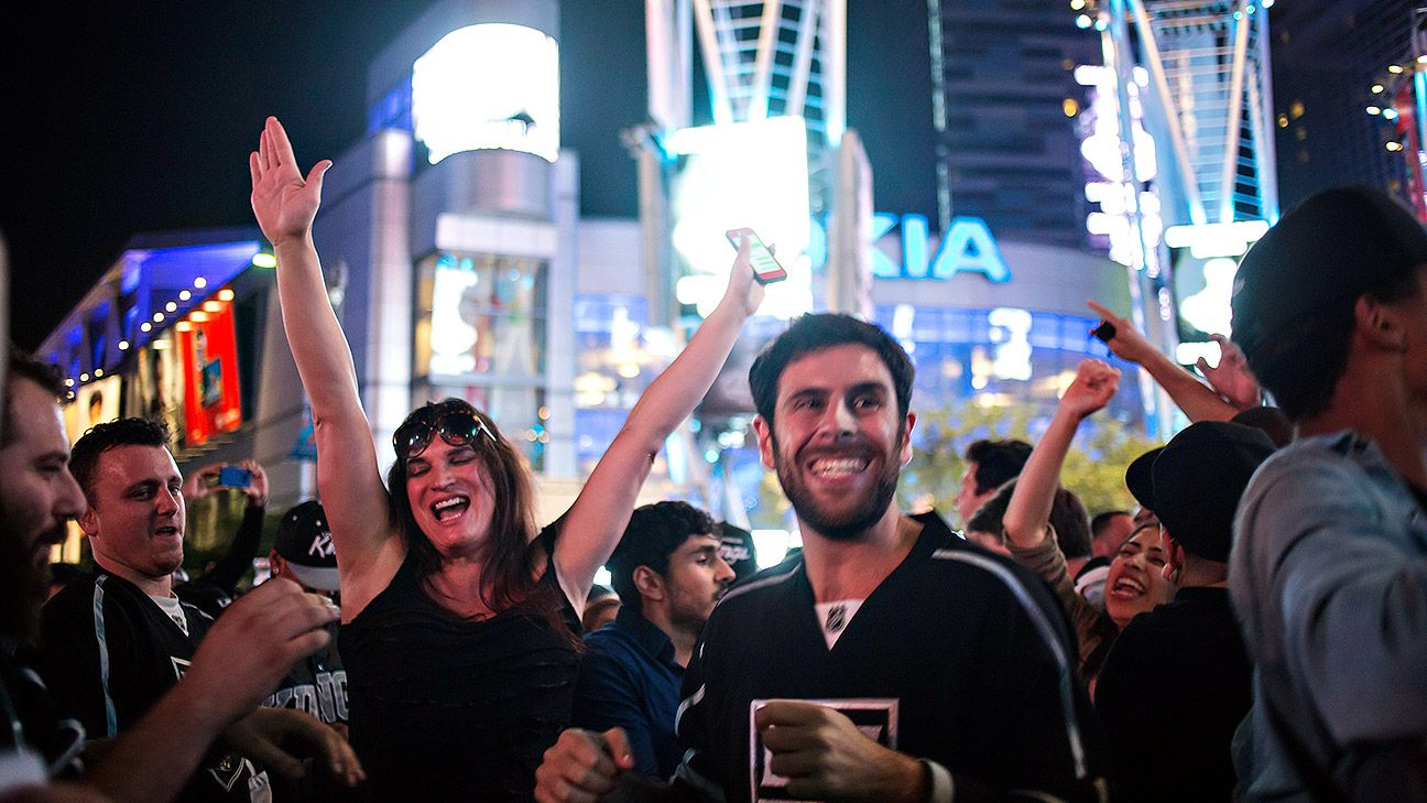 Exhausted Kings fans celebrate Cup