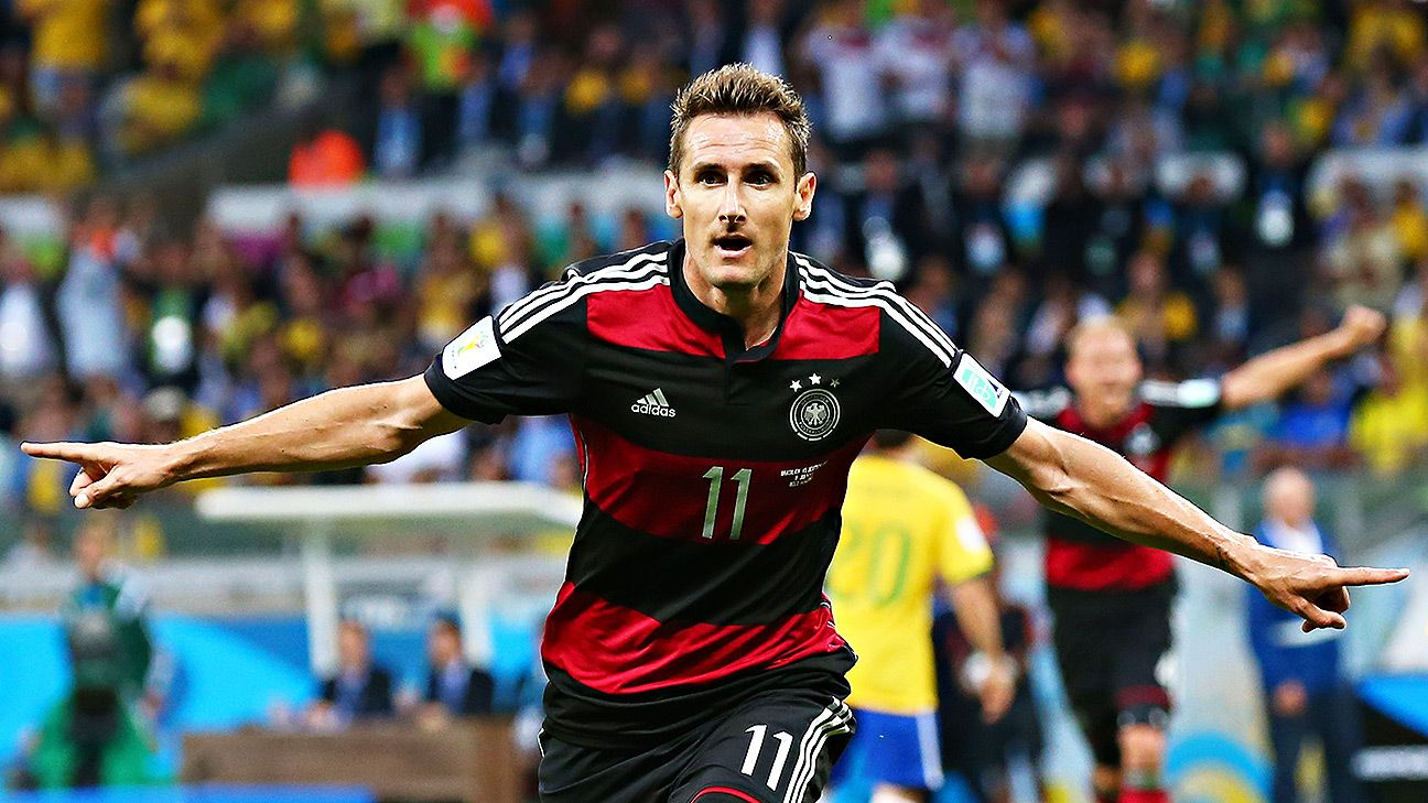 Germany striker Miroslav Klose sets new World Cup scoring record