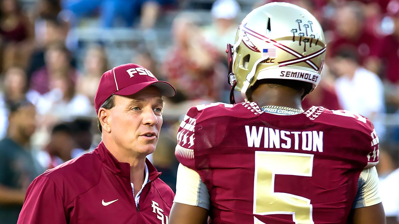 Winston talks with coach, changes