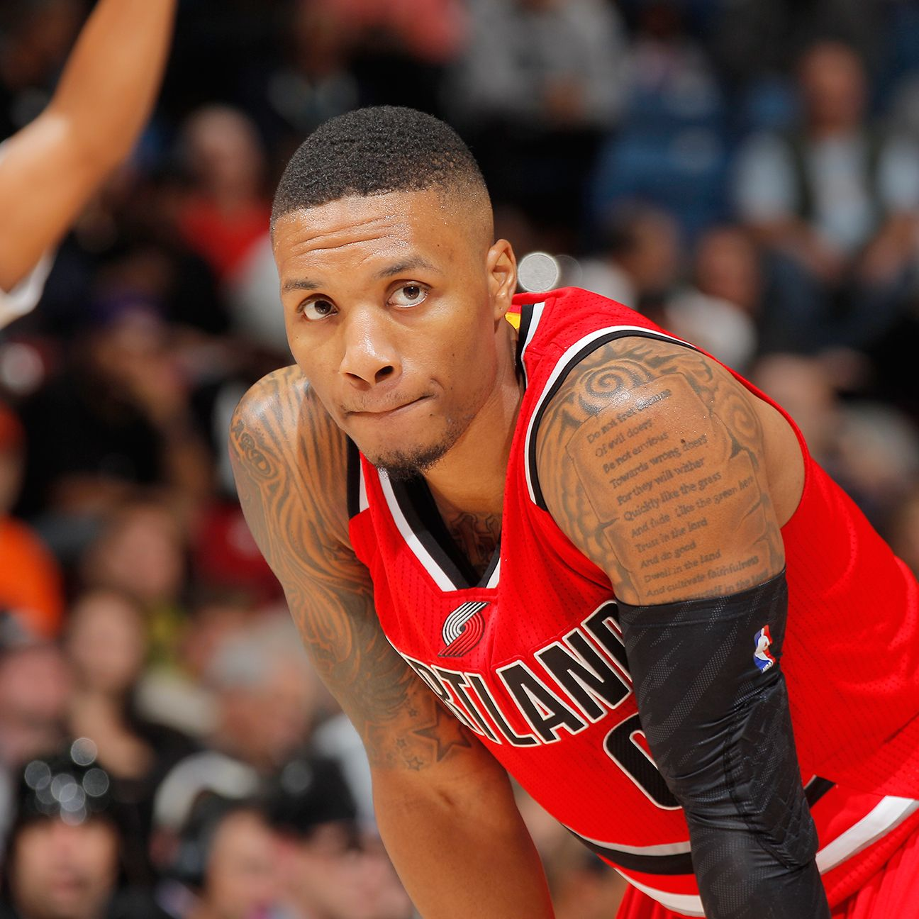 Damian Lillard Of Portland Trail Blazers Receives College