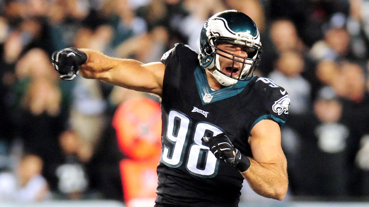 NFL Jersey's Pro Line Mens Philadelphia Eagles Connor Barwin Big & Tall Team Color Jersey