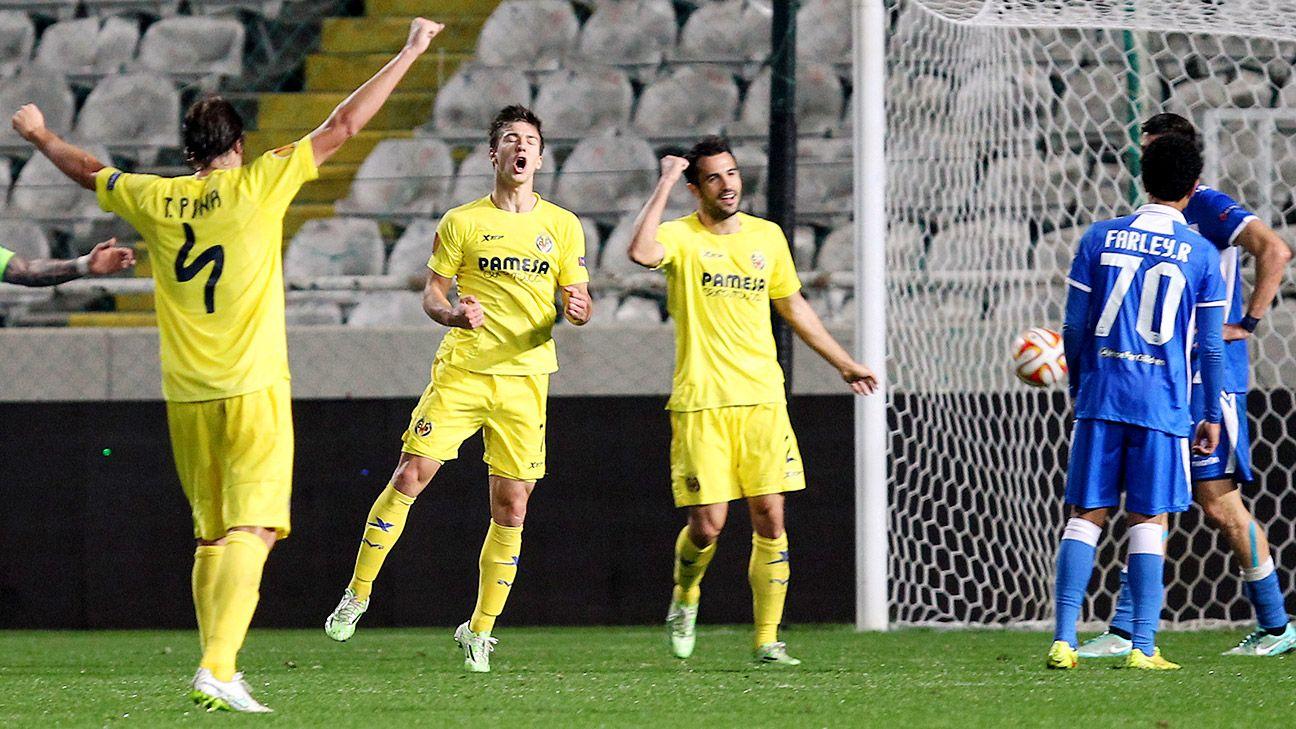 Apollon limassol vs villarreal football match report december 11 2014 espn - Villarreal fc league table ...