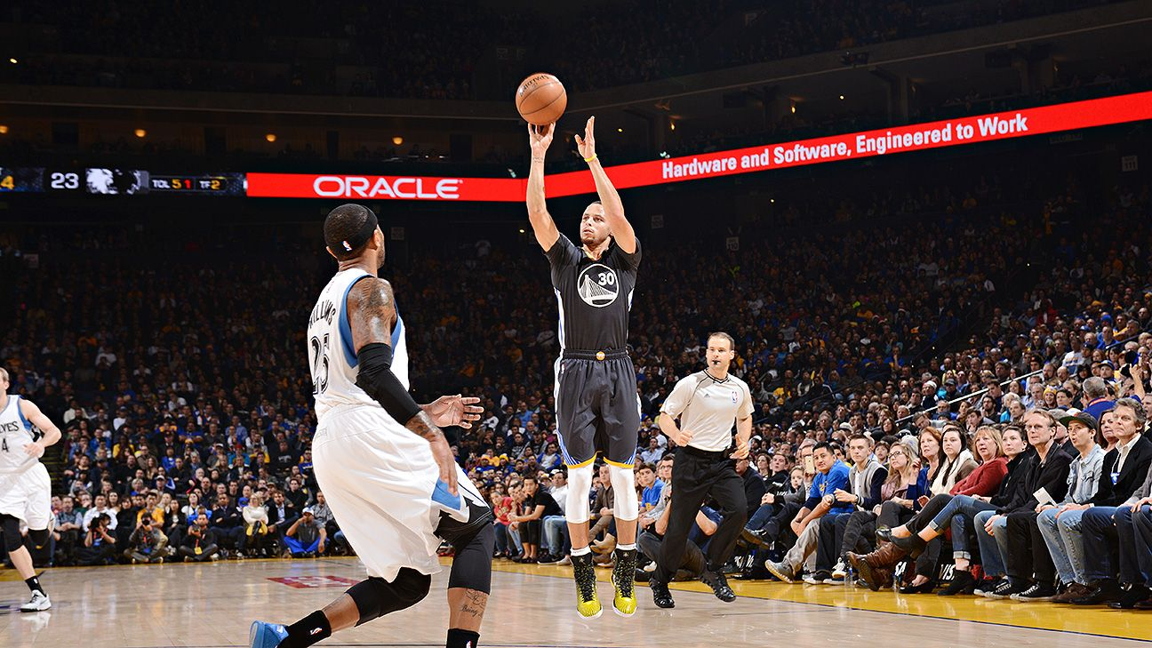 Stephen Curry of Golden State Warriors makes 77 ...
