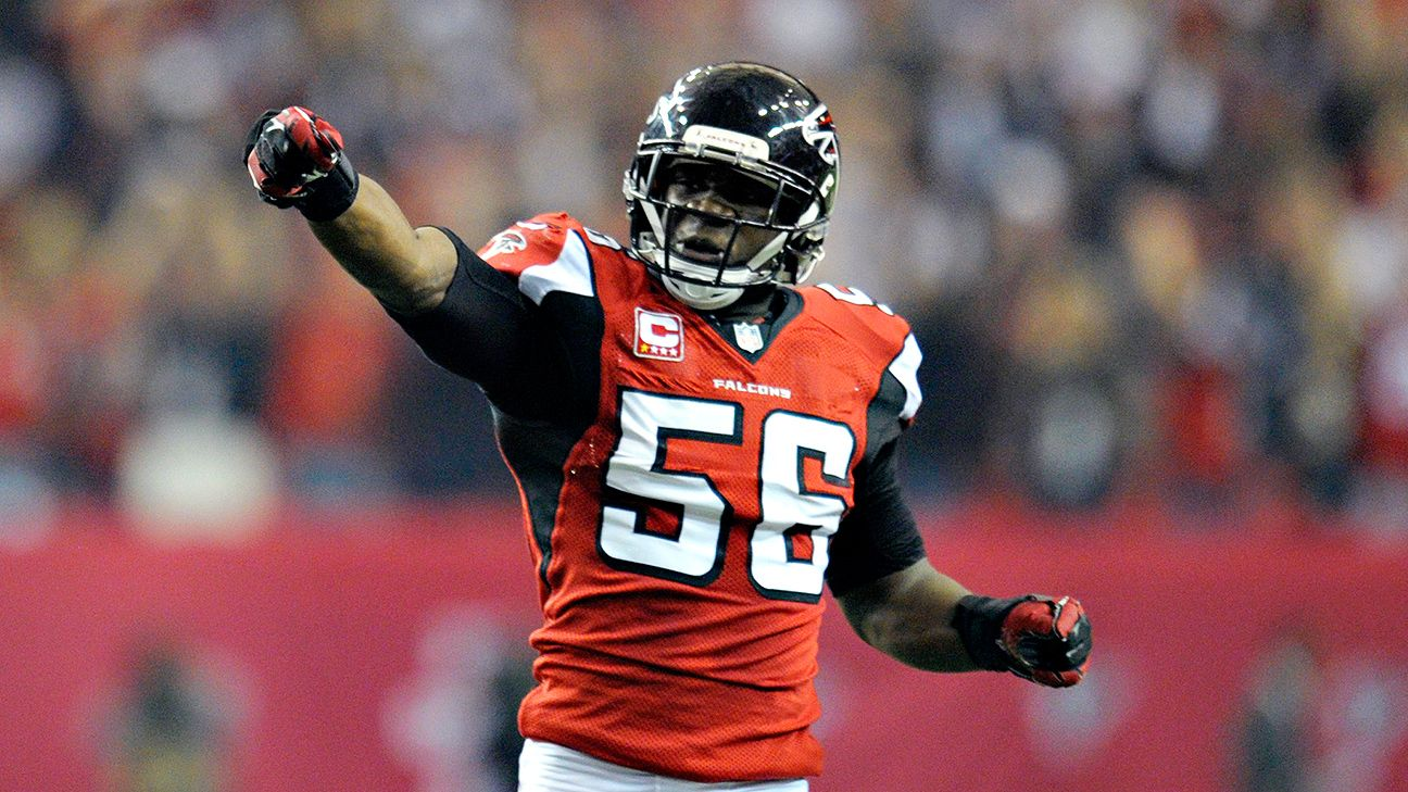 sale retailer 44645 afa23 Falcons' Sean Weatherspoon gets a free pass for old jersey ...