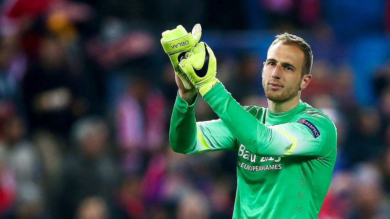Atletico Madrid keeper Jan Oblak signs five year contract