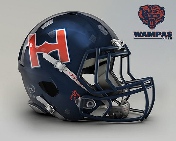 Check out these awesome helmets that mix 'Star Wars' characters and NFL teams