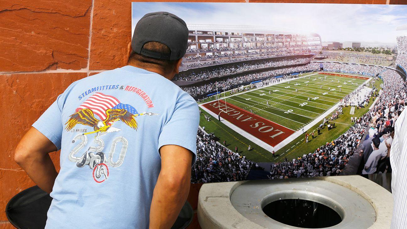 Design for Los Angeles-area NFL stadium includes tower, cauldron