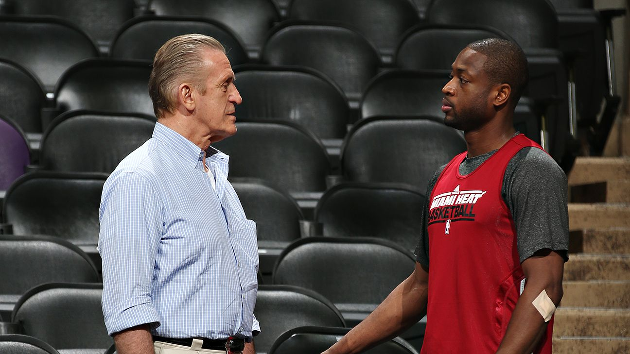 Dwyane Wade, Pat Riley at crossroads