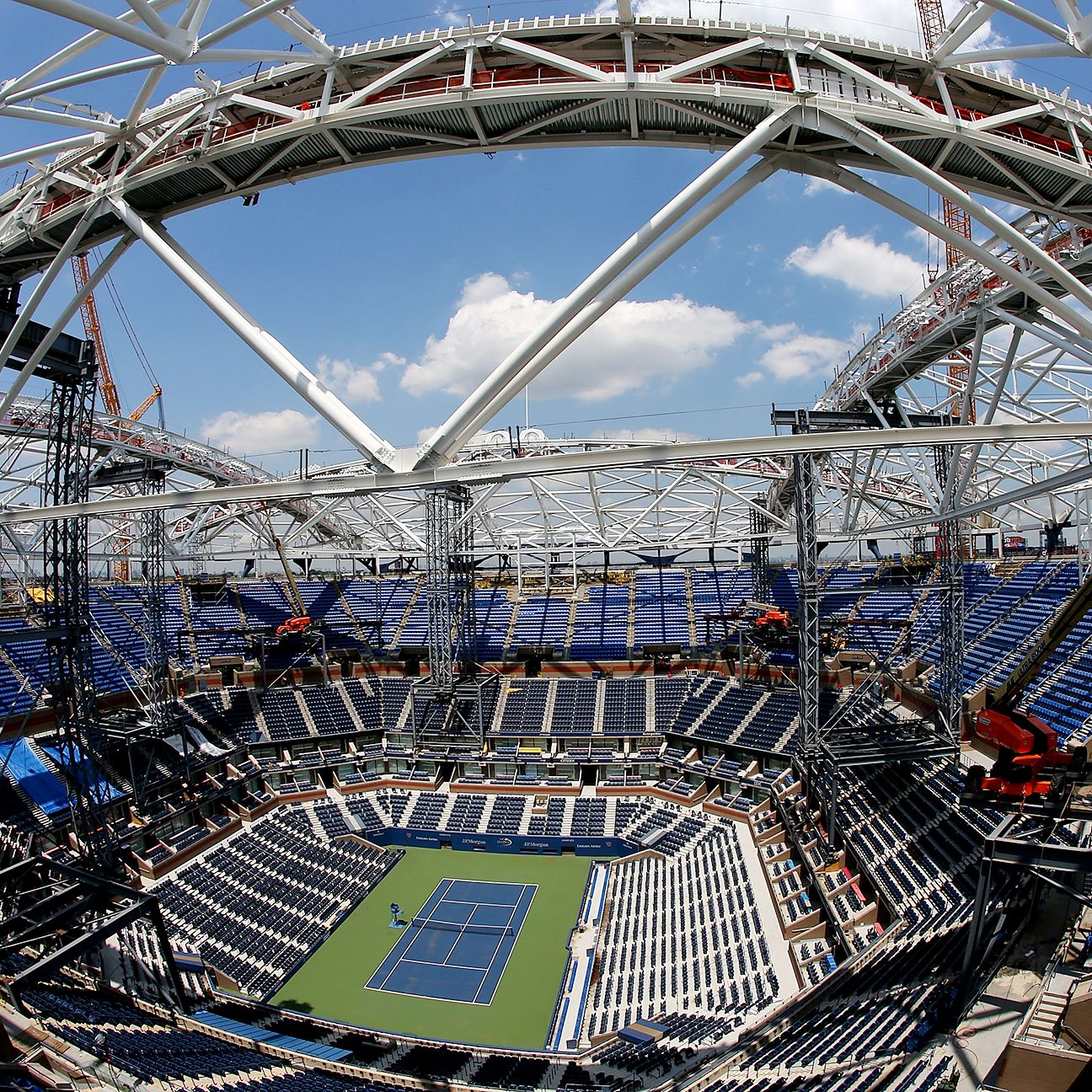 Superstructure: US Open -- Steel Superstructure In Place For New Arthur