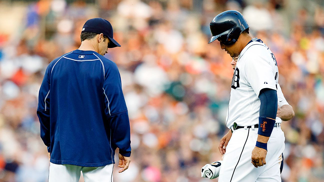 Detroit Tigers' Miguel Cabrera (calf) goes on disabled ...