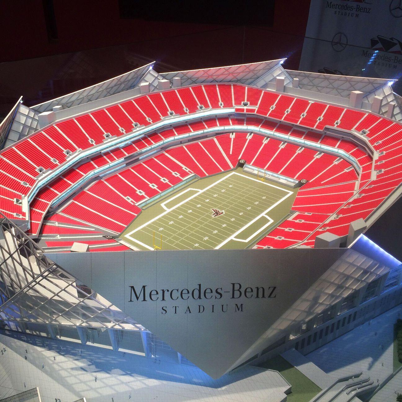 Mercedes benz named as sponsor for atlanta falcons 39 new for Mercedes benz football