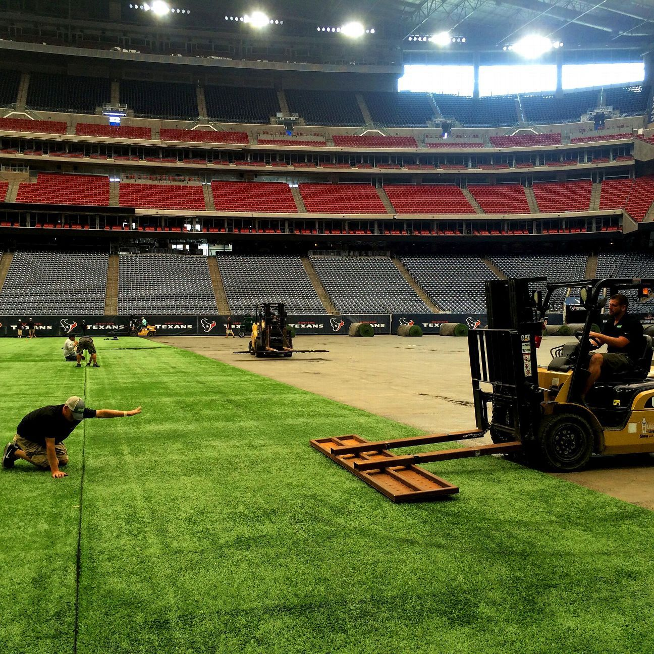 Houston Texans Prepare For First Home Game On Artificial