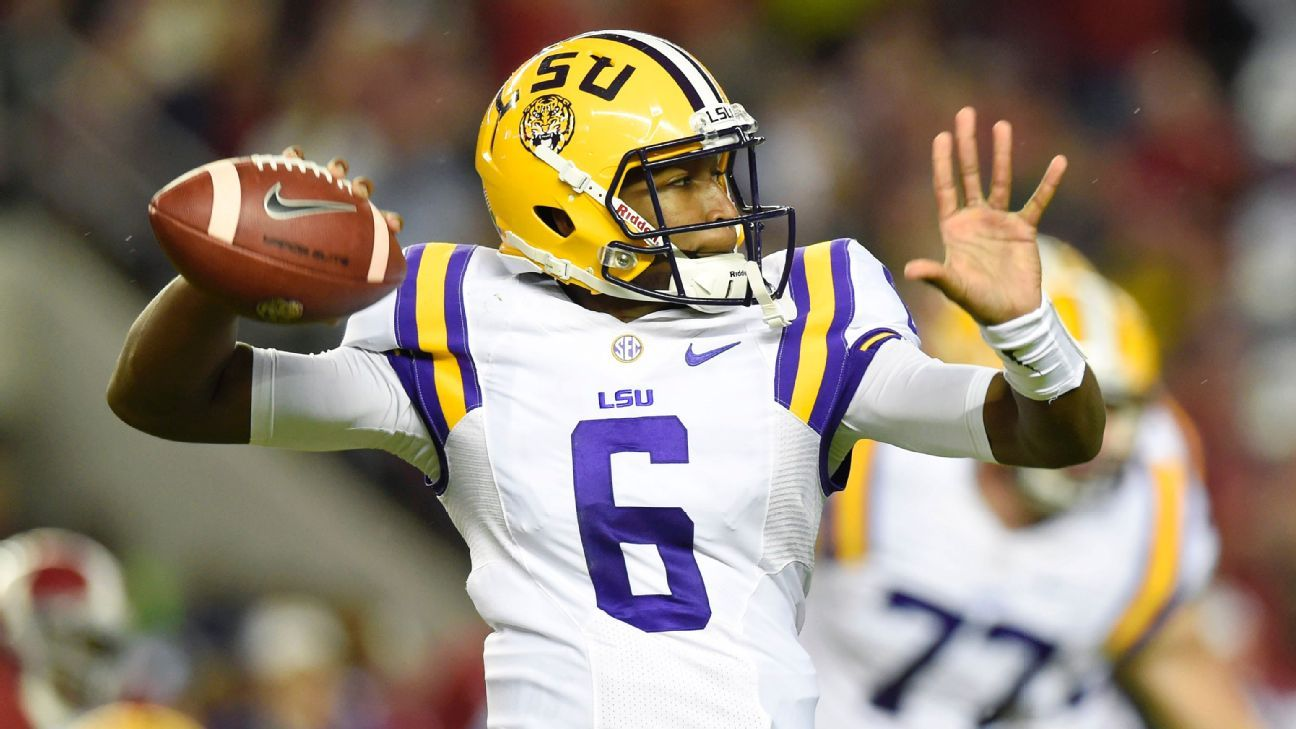 LSU looks for improved QB play -- and a playoff run