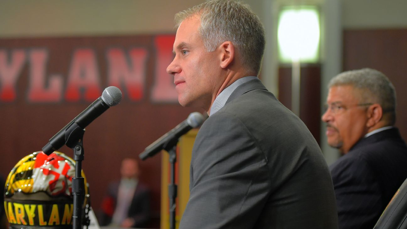 Maryland coach DJ Durkin held back tears as he discussed 19-year-old Jordan McNair, who died Wednesday. McNair was hospitalized after becoming ill after an organized team workout. The university is conducting an external review into McNair's death.