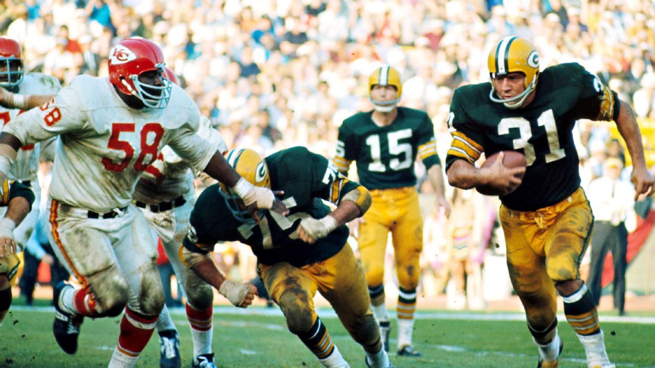 Jim Taylor, who was second in NFL history with 8,207 rushing yards when he retired in 1966 and won six NFL championships with the Packers, has died at the age of 83.