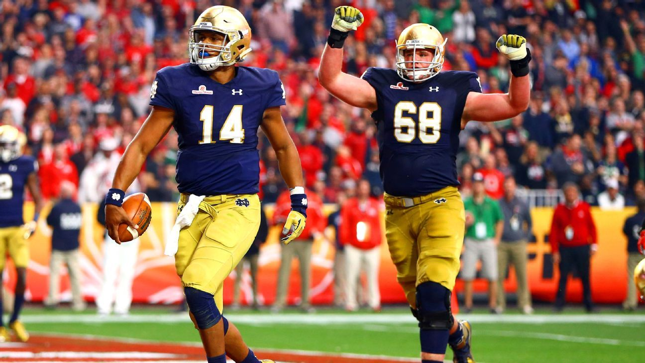 Irish left tackle mike mcglinchey says as of now he plans to return