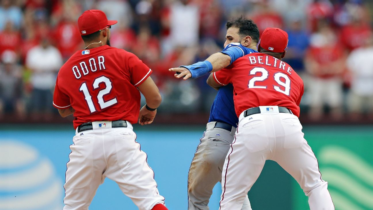 Texas Rangers out of line in brawl with Toronto Blue Jays - SweetSpot-  ESPN