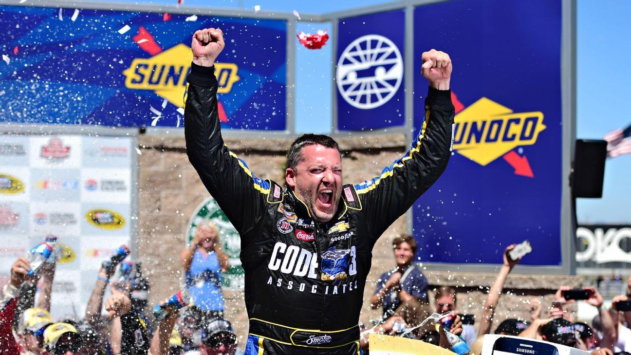 Holy Smoke! Stewart snaps 84-race drought