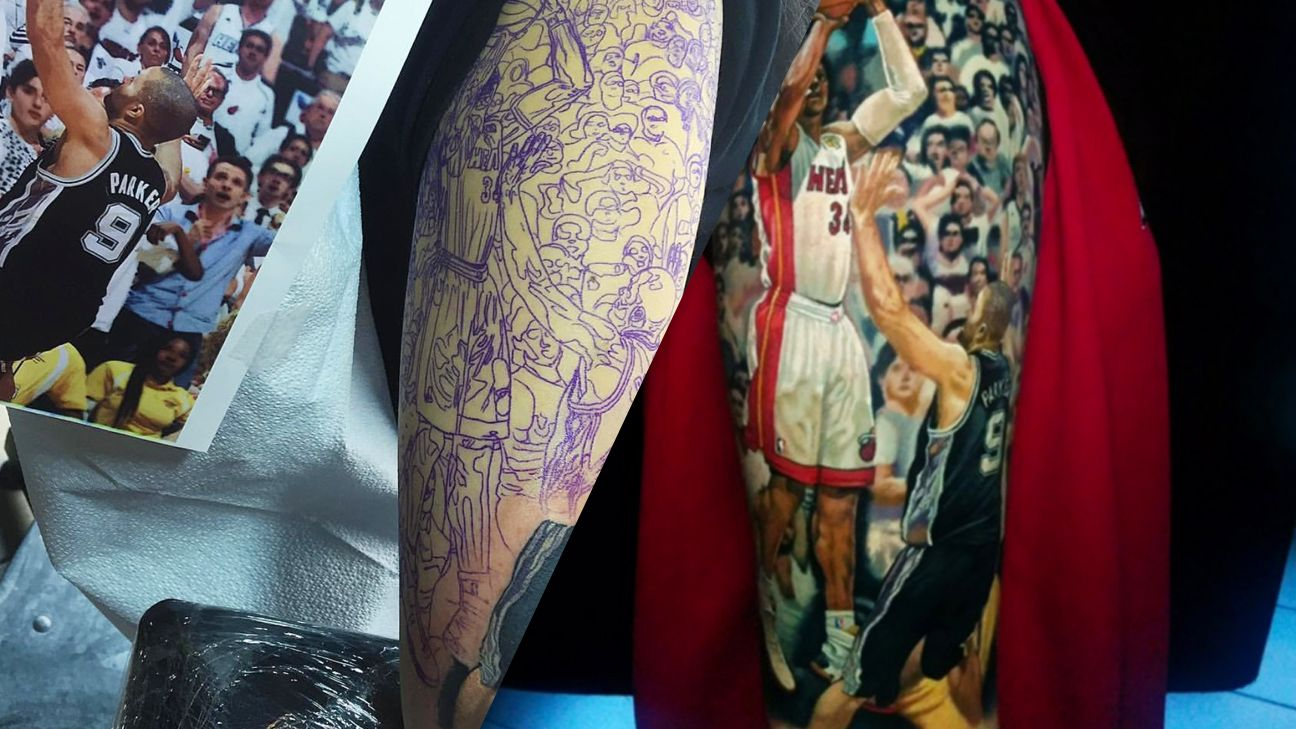 Ray Allen's 2013 Finals shot immortalized as tattoo