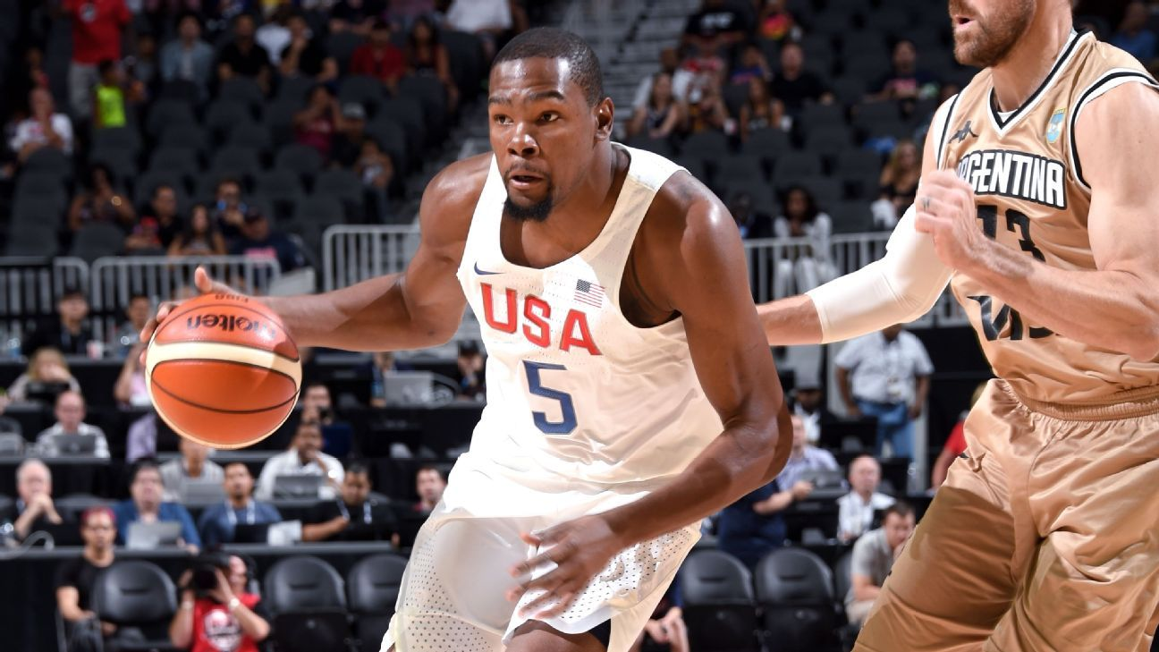 Kevin Durant leads US with 23 in 111-74 romp over Argentina