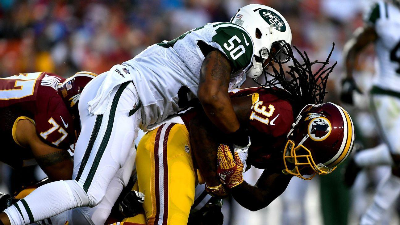 Washington Redskins RB Matt Jones suffers shoulder injury ...