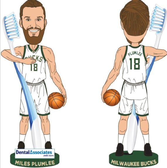 Image result for miles plumlee bucks giveaways