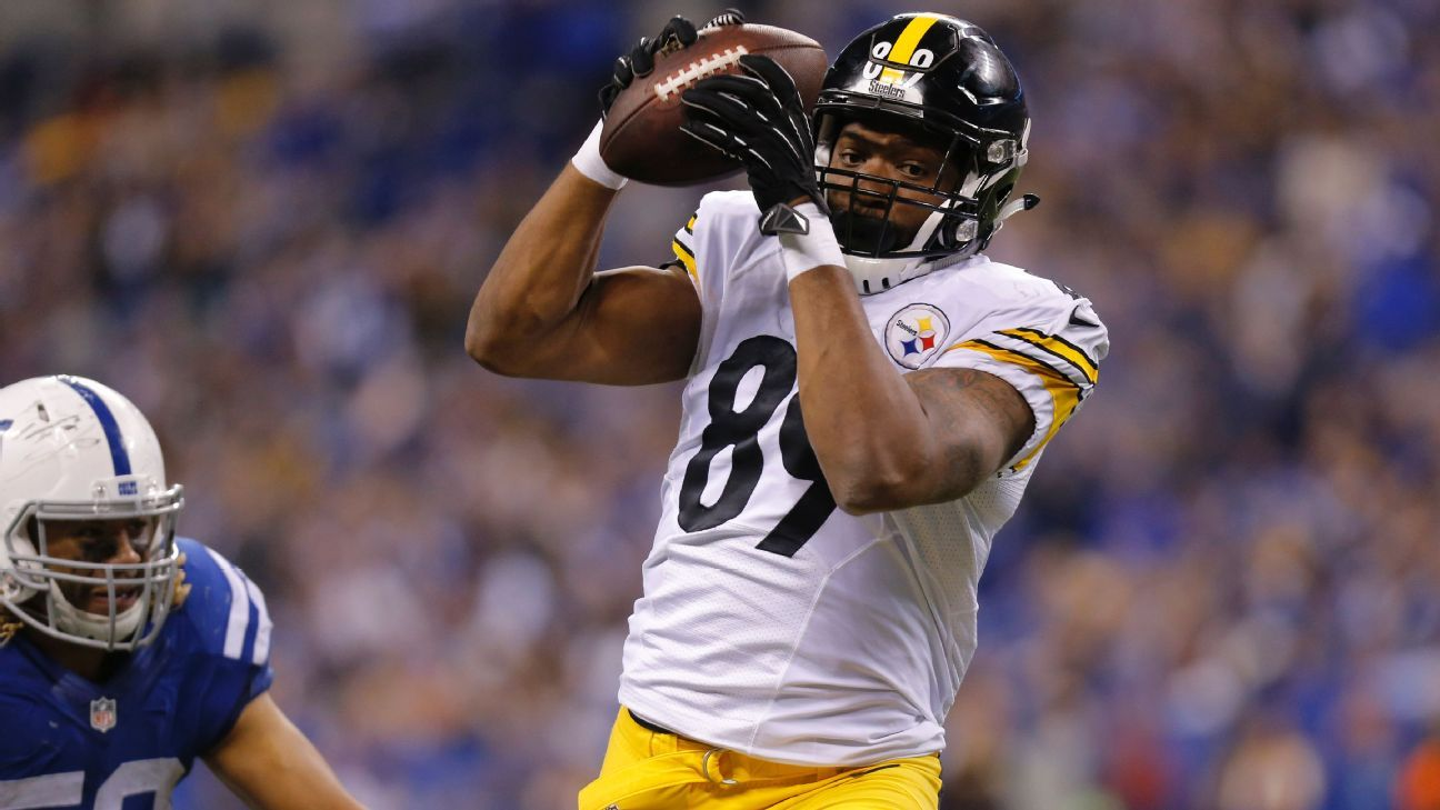 Pittsburgh Steelers TE Ladarius Green out against Miami Dolphins