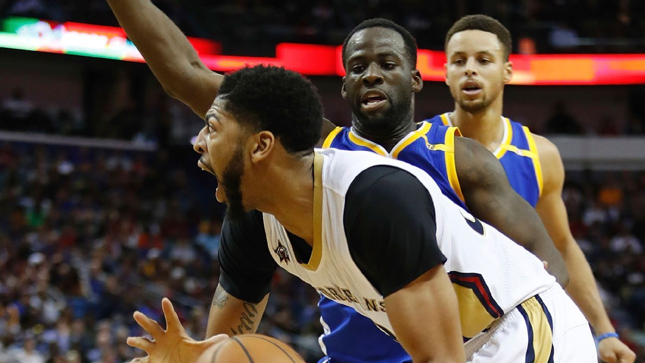 Draymond Green should have been called for a foul on a decisive steal of  Anthony Davis with 4.5 seconds left in the Golden State Warriors   113-109  victory ... 6f18692143334