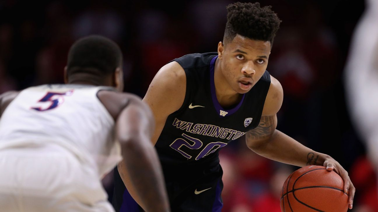 Markelle Fultz sits out for Washington Huskies due to sore right knee