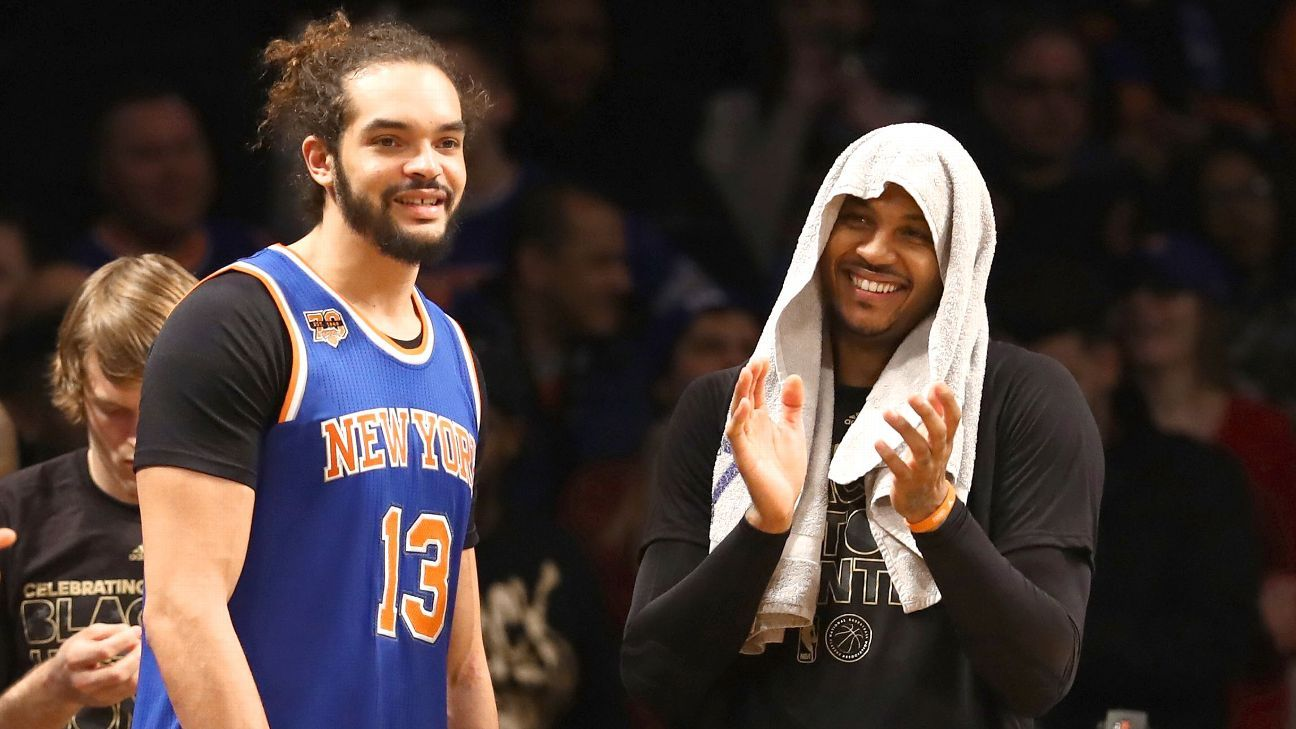 Latest turn for Carmelo Anthony is cheering during the fourth quarter