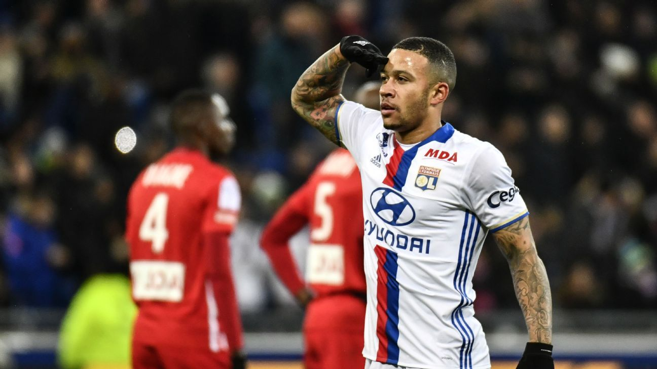 Memphis Depay ting stronger after scoring first goal for Lyon