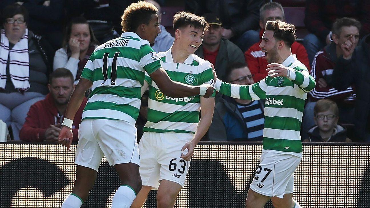 Scott Sinclair treble fires Celtic to Scottish Premiership title