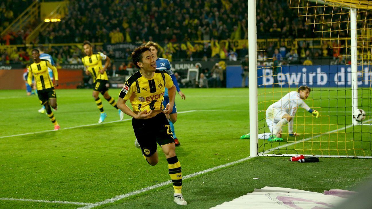 borussia dortmund vs hamburg sv football match report
