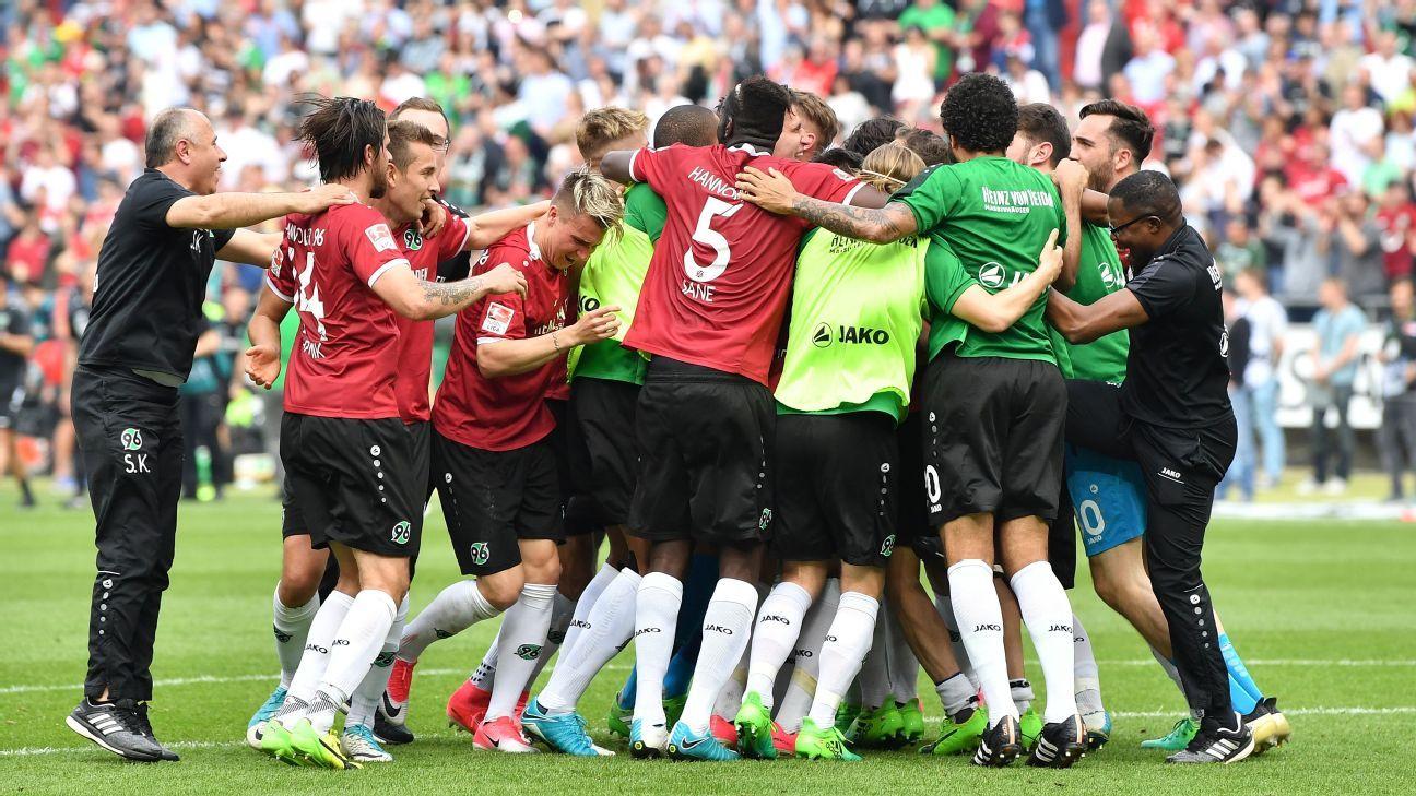 Hannover and stuttgart close on bundesliga return after - German league fixtures results table ...