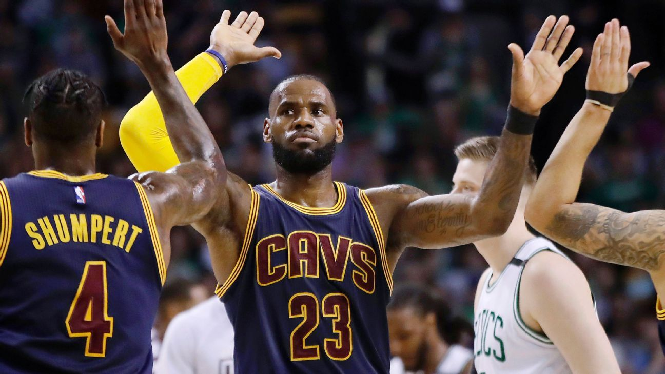 The top 10 games for LeBron James against the Boston Celtics