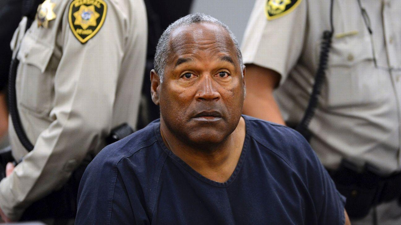 O.J. Simpson appearing before parole board