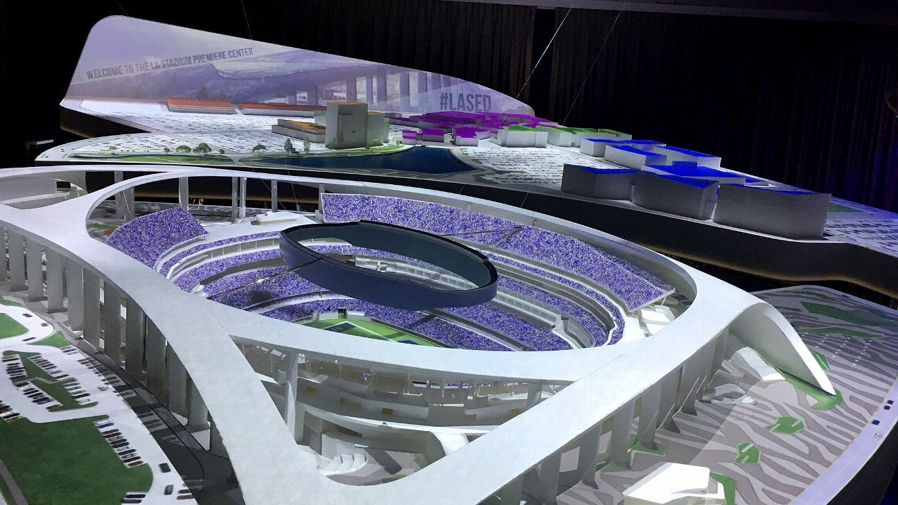 Model center breathes life into Rams, Chargers stadium in Inglewood