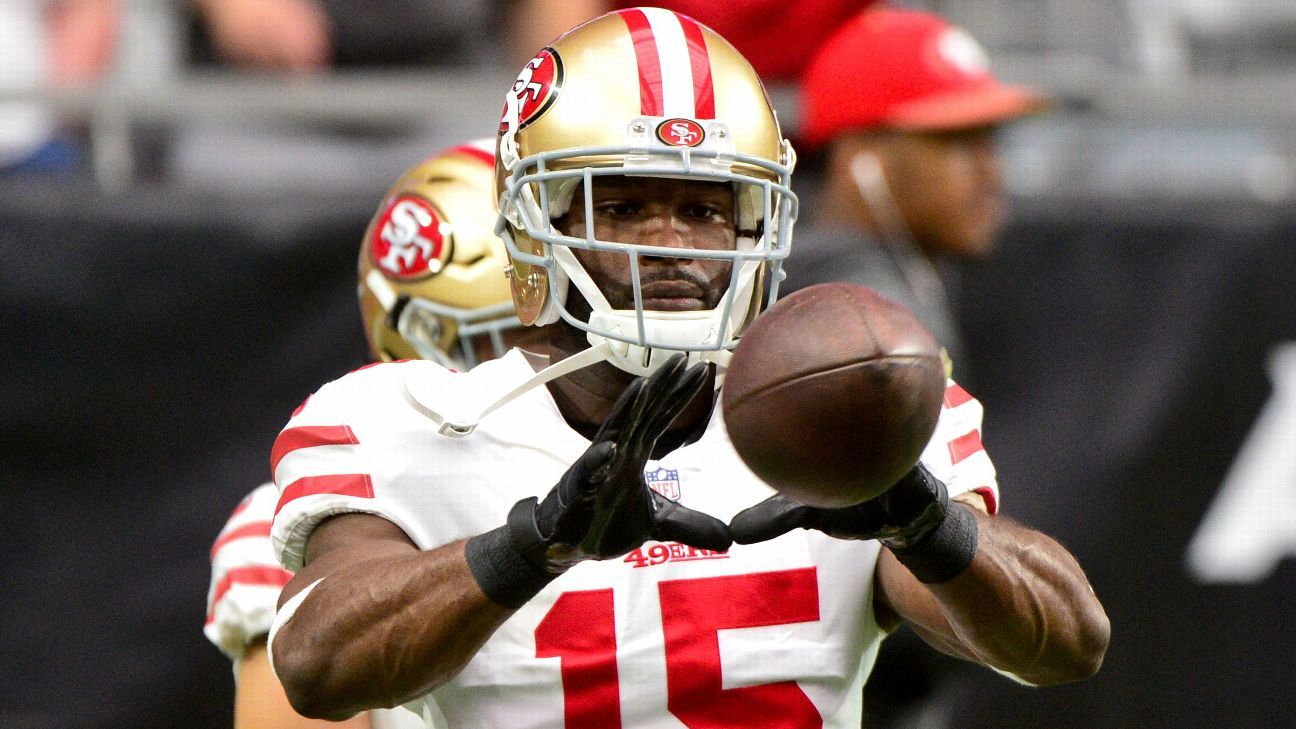 The 49ers will place veteran receiver Pierre Garcon on injured reserve, ending his season prematurely because of injury for the second season in a row.