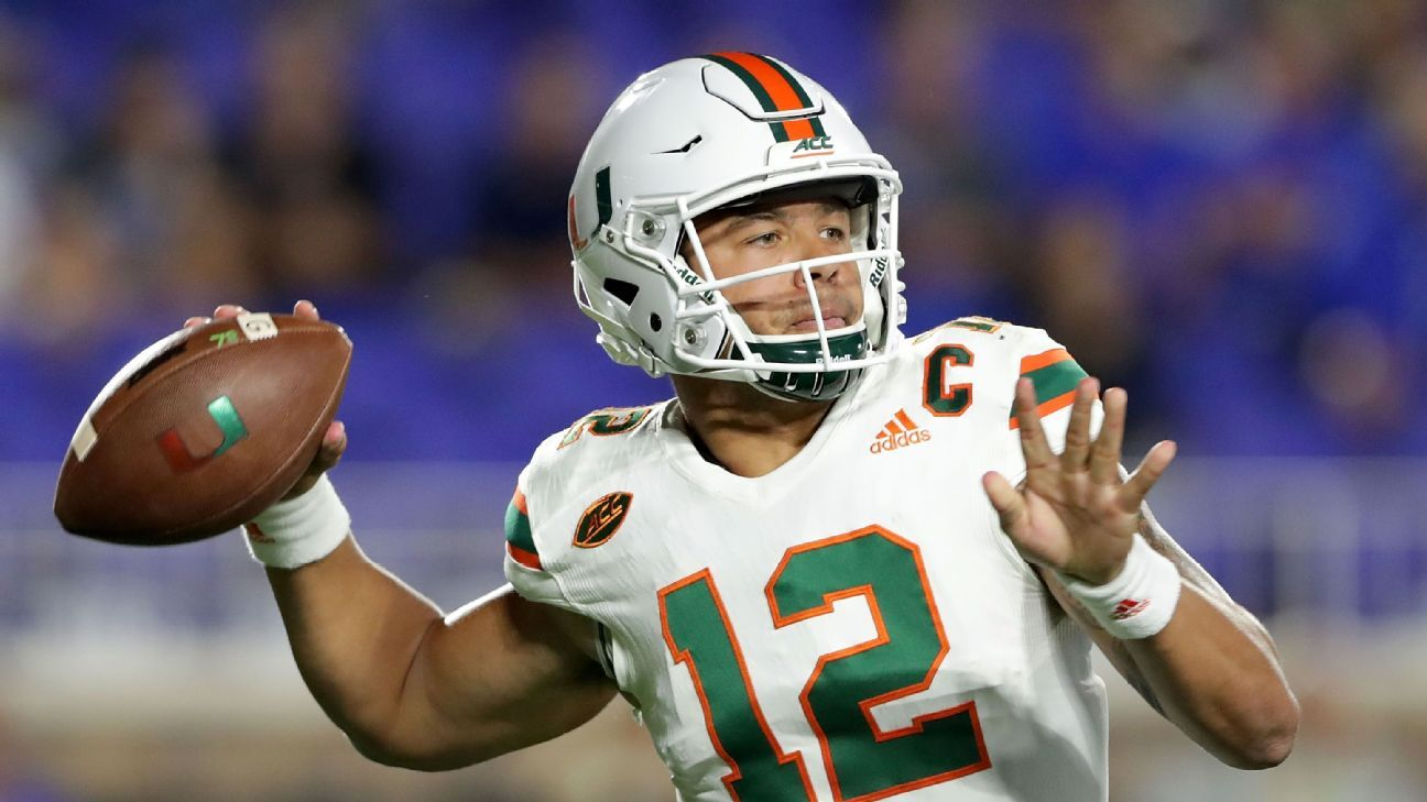 Miami Hurricanes' Malik Rosier played against Notre Dame after father had stroke
